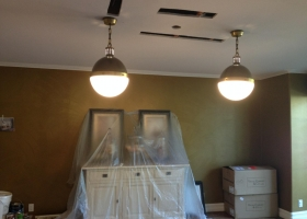 New Hicks Pendants in dining room