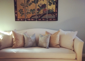 Paint, art, sofa, pillows!